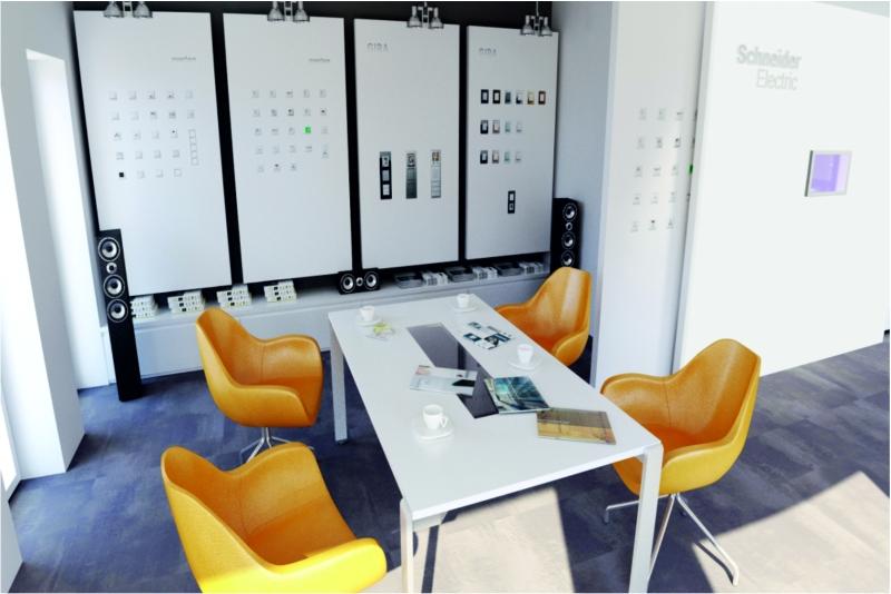 wizualizacja nowoczesnego biura