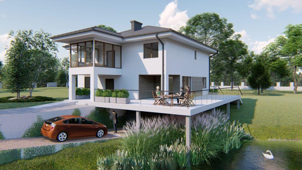 Dom jednorodzinny nad jeziorem