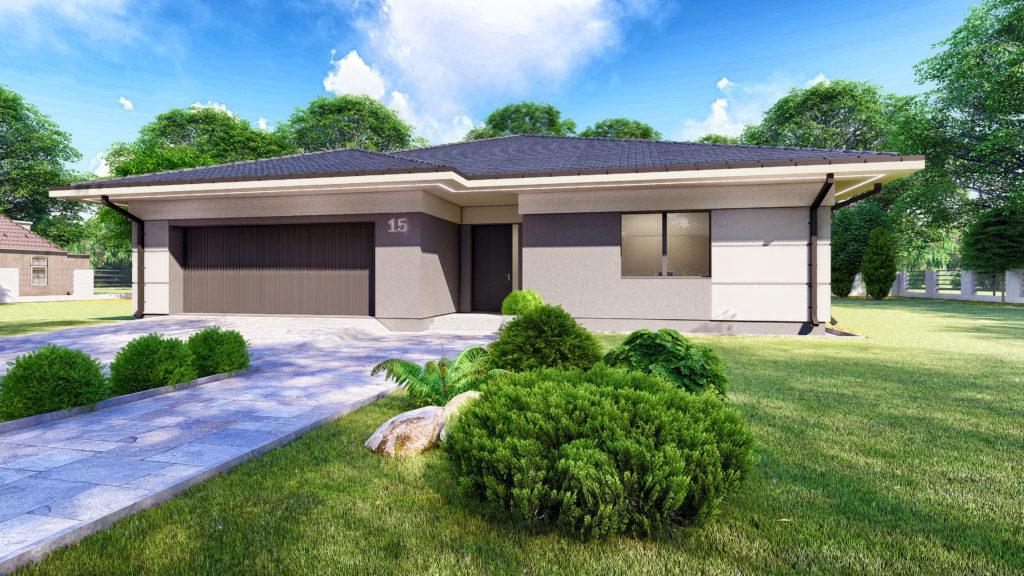 Projekt domu parterowego z garażem